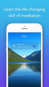 image of calm app on phone