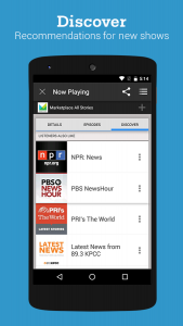 Image of Stitcher app on phone